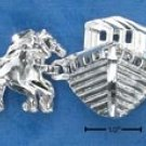 "STERLING SILVER 7"" DC NOAH'S ARK AND ANIMALS BRACELET"