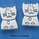 STERLING SILVER HAPPY SITTING KITTEN POST EARRINGS