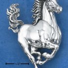 STERLING SILVER LARGE GALLOPING HORSE PIN/PENDANT