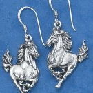 STERLING SILVER STALLION EARRINGS