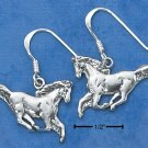STERLING SILVER SMALL WILD STALLION DANGLE EARRINGS
