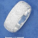 BEAUTIFUL STERLING SILVER 8MM WIDE STARDUST BAND.