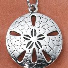 STERLING SILVER DETAILED SAND DOLLAR CHARM
