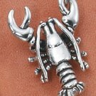 STERLING SILVER LARGE ANTIQUED LOBSTER CHARM