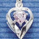STERLING SILVER JUNE CZ HEART CHARM