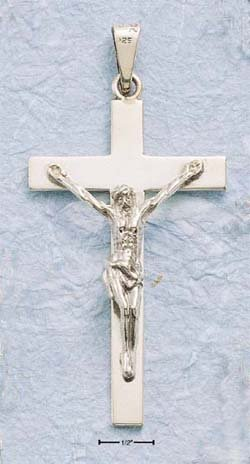 "STERLING SILVER 3"" EXTRA LARGE CRUCIFIX"
