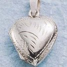 STERLING SILVER EXTRA SMALL ENGRAVED HEART LOCKET
