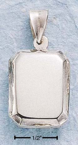 STERLING SILVER HP RECTANGULAR LOCKET