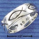 STERLING SILVER LIFE FISH BAND.