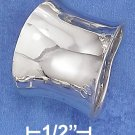 STERLING SILVER 18MM HIGH POLISH CONCAVE TAPERED BAND (8MM PALM SIDE)