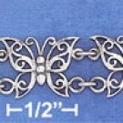 "STERLING SILVER 7""  FILIGREE BUTTERFLY LINK TOGGLE BRACELET"