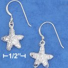 STERLING SILVER DC SATIN 12MM STARFISH EARRINGS