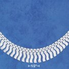 STERLING SILVER HP 7MM WIDE FANCY STAMPATO NECKLACE W/ GRADUATED FRINGE TASSLES 17""