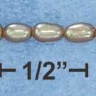 "STERLING SILVER 7.5"" MULTIPLE LIGHT BRONZE TINY RICE PEARL BRACELET"