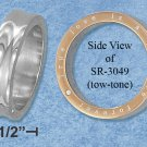 STAINLESS STEEL 6MM UNISEX WEDDING BAND WITH TRUE LOVE INSCRIBED