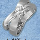 STAINLESS STEEL UNISEX INTERLOCKING TWO PART WEDDING BAND