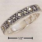 STERLING SILVER 4MM DIAMOND SHAPE MARCASITE BAND