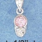 STERLING SILVER OCTOBER CUBIC ZIRCONIA BIRTHSTONE BOOTIE CHARM