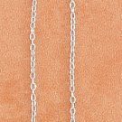 "STERLING SILVER 5.5"" CABLE CHAIN EAR THREAD WITH 8MM CZ FLOWER"