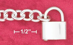 "7"" SS HP ROUND CABLE (7MM) CHAIN WITH PADLOCK CLASP"