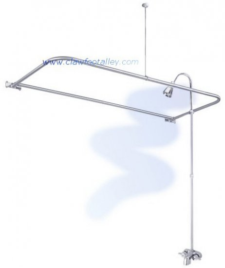 Claw Foot Tub Wall Mounted Shower Curtain Rod Add A Shower