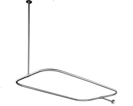 Clawfoot Oval Shower Rod With Ceiling Support 42 X 24