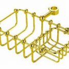 "7"" Riser Mount Soap Basket Polished Brass"