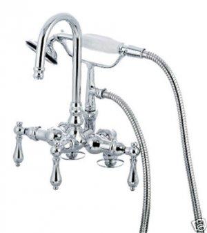 Deck Mount Faucet w/hi rise spout/SN