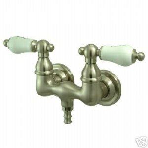 Claw foot Tub Filler w/Porcelain Handles/ S.N.
