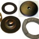 OIL RUBBED BRONZE TUB SHOE & PLATE KIT SINGLE HOLE