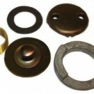 OIL RUBBED BRONZE TUB SHOE & PLATE KIT (DARK)