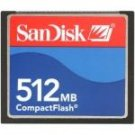 SanDisk 512 mb CompactFlash Card