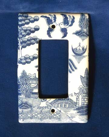 Blue Willow 1 Switch Plate
