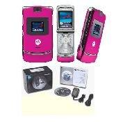 Motorola V3 Razr 'Pink' Mobile Cellular Phone (Unlocked)