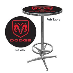 Officially Licensed Dodge Pub Table