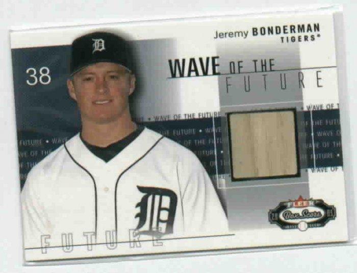 2003 Fleer Box Score Jeremy Bonderman Bat Card ROOKIE !!! Detroit Tigers