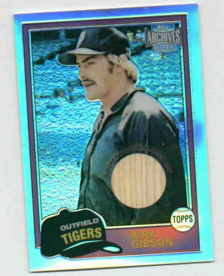 2001 Topps Archives Reserve Kirk Gibson Bat Card Detroit Tigers