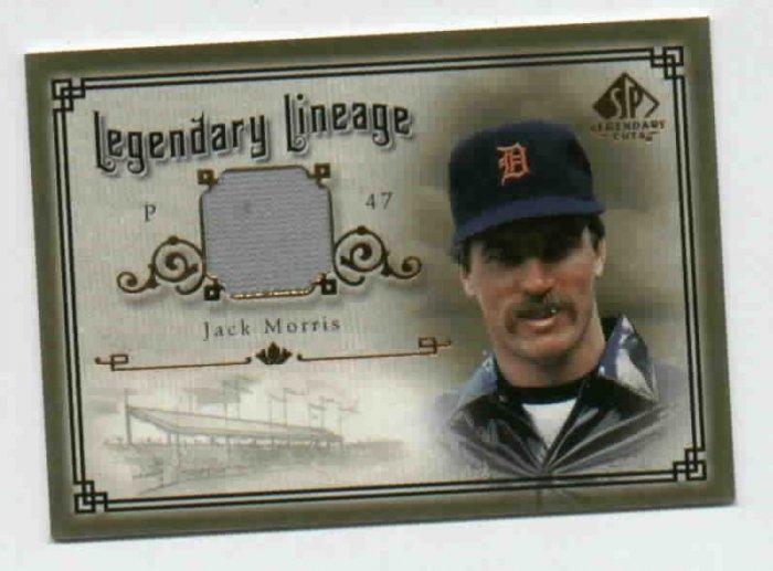 2005 Upper Deck SP Legendary Lineage Jack Morris Jersey Card Detroit Tigers
