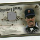 2005 Upper Deck SP Legendary Lineage Jack Morris Jersey Card Detroit Tigers