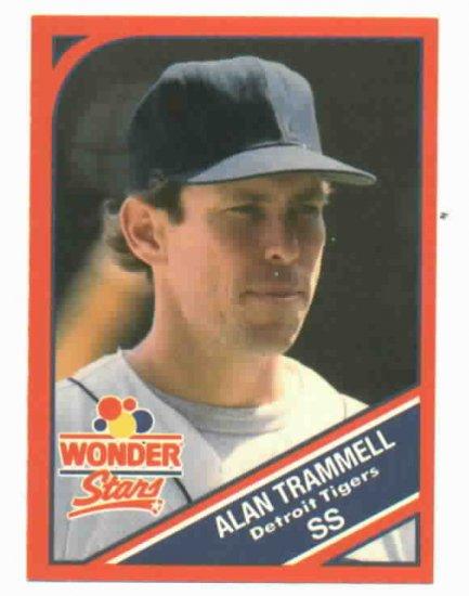 1990 Wonder Bread Stars Alan Trammell Oddball Detroit Tigers
