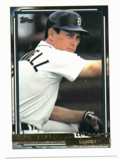 1992 Topps Gold Winner Alan Trammell Detroit Tigers