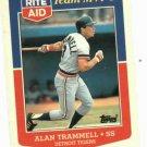 1988 Rite Aid Team MVP's Alan Trammell Oddball Detroit Tigers