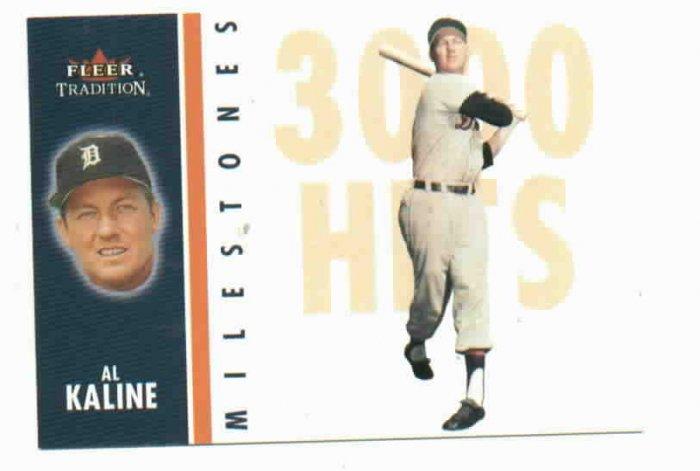 2003 Fleer Tradition Milestones Al Kaline Detroit Tigers