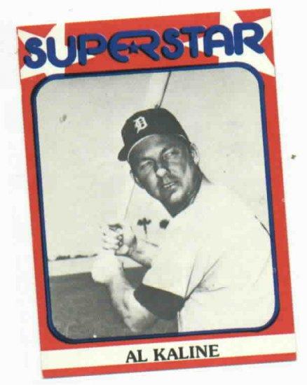 1982 Super Star Al Kaline Oddball Detroit Tigers