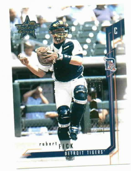 2002 Leaf Rookies & Stars Robert Fick #D 2/5 Chicago Tribune Detroit Tigers Only 5 EXIST !!!