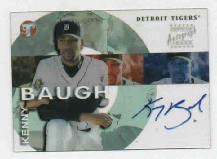 2002 Topps Pristine Kenny Baugh AUTOGRAPH Rookie Detroit Tigers