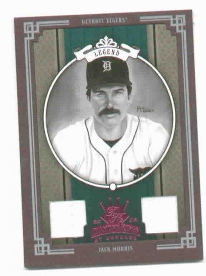 2005 Diamond Kings Legends Jack Morris DUAL JERSEY #D 9/50 Detroit Tigers