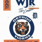 1992 Detroit Tigers WJR Pocket Schedule