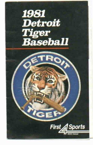 1981 Detroit Tigers Pocket Schedule
