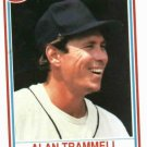 1990 Post  Alan Trammell Baseball Card Oddball Detroit Tigers